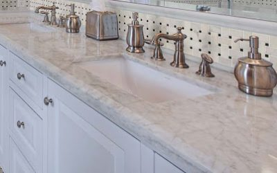 Beautiful and Functional Countertops in a Handicap-Accessible Bathroom