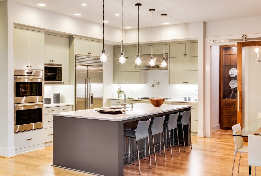 6 Modern Kitchen Lighting Ideas R&D Marble, Conroe, TX